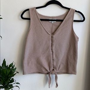 Texture & Thread Madewell Front Tie Tank Top